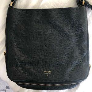 Fossil black crossbody purse